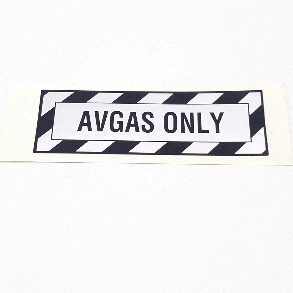 T-022 Avgas Only placard