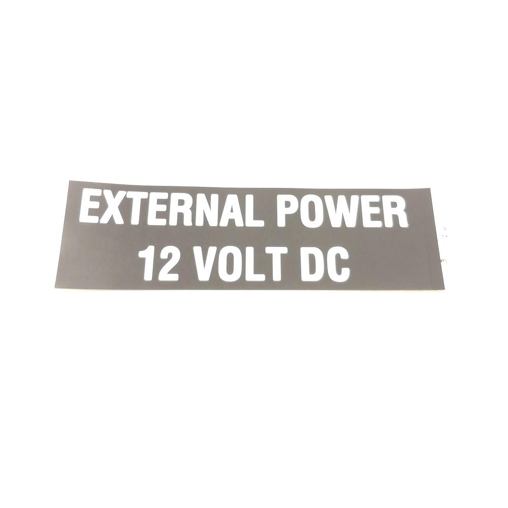 T-016 External Power 12V placard
