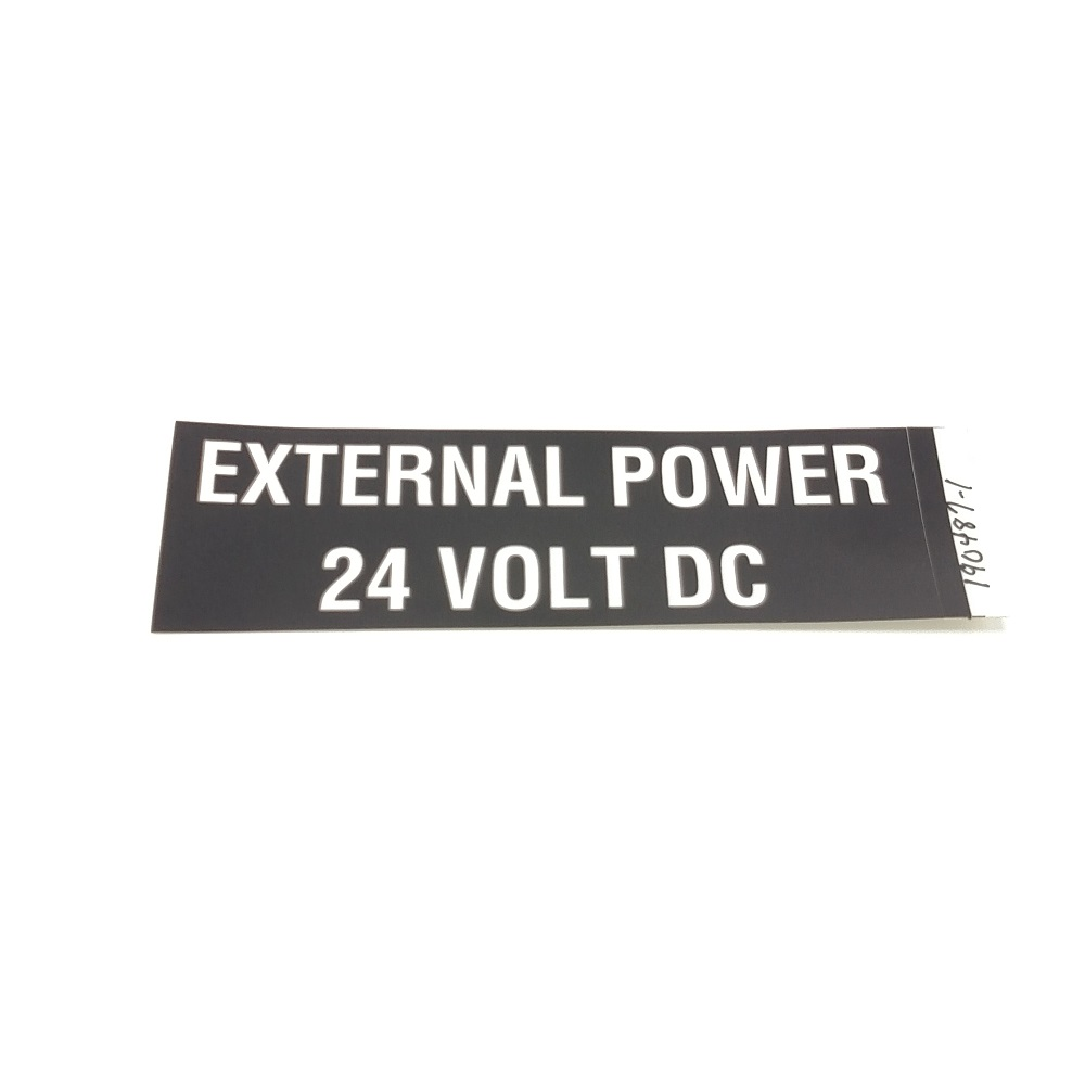 T-017 External 24V Power placard