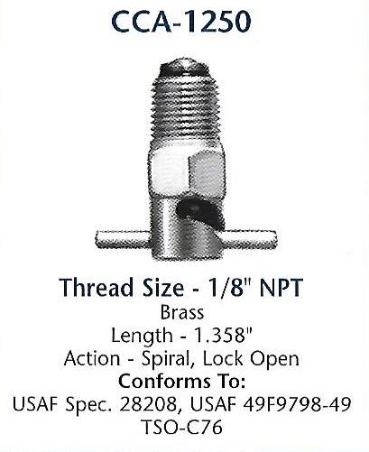 CCA1250 Curtis drain valve