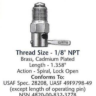 CCA7450 Curtis drain valve
